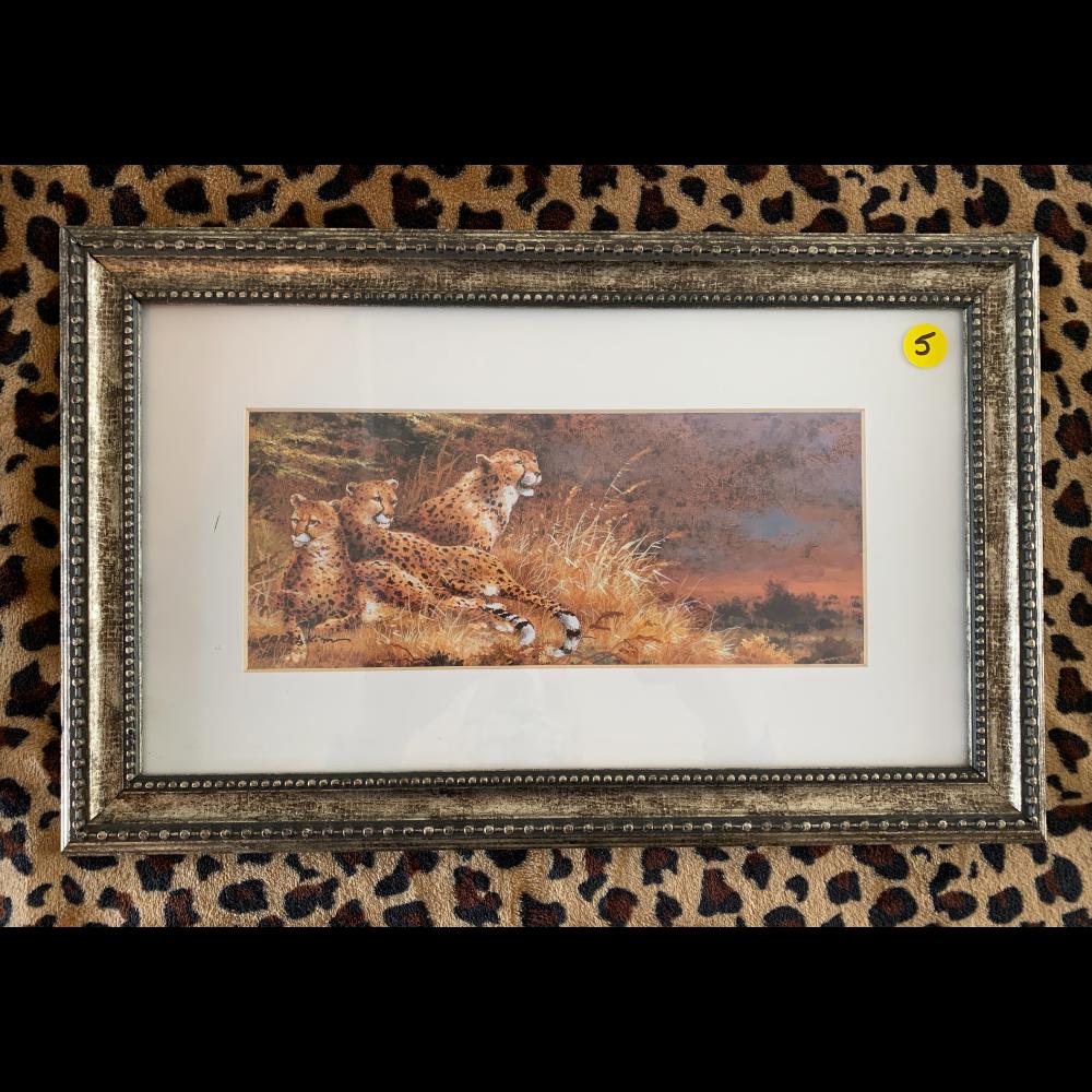 Home Interior Cheetah Family Portrait
