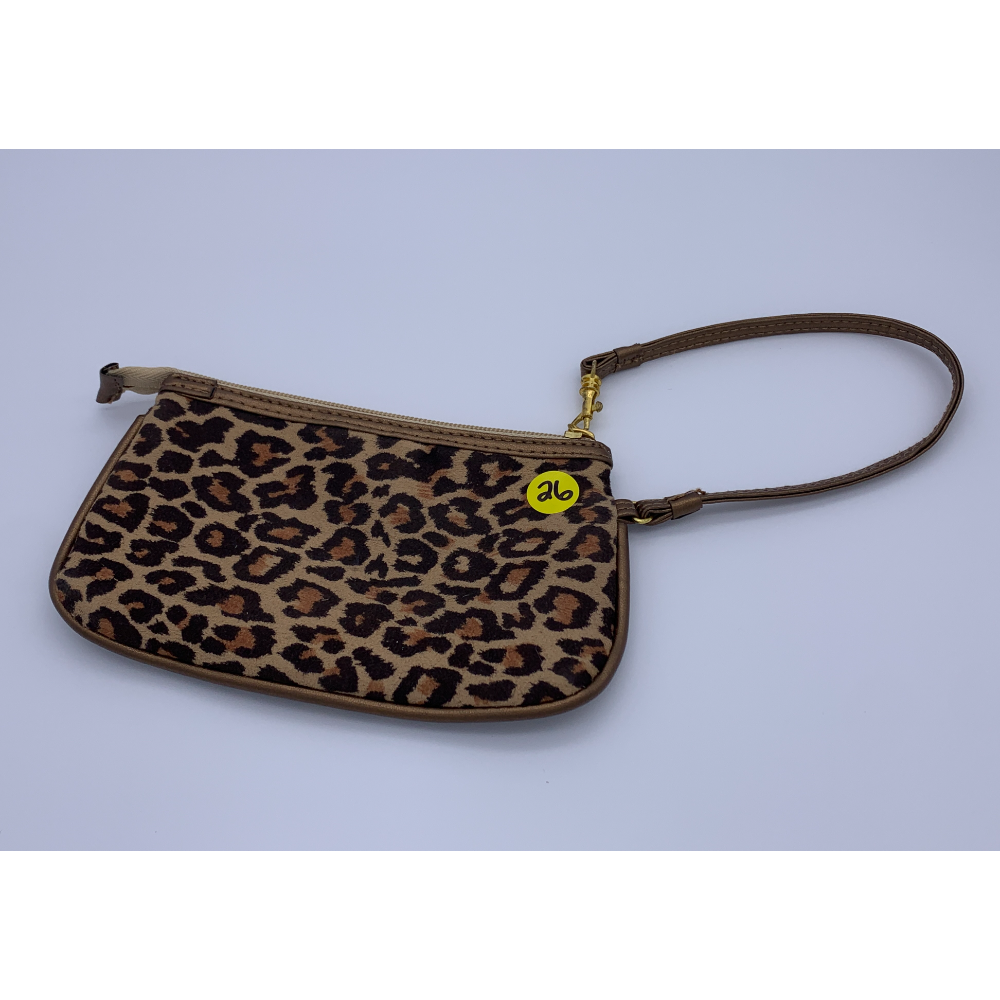 Gently used Leopard Print Clutch Bag
