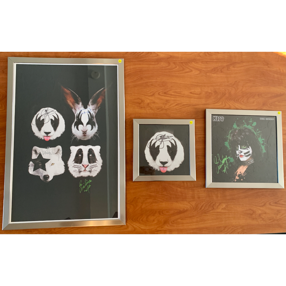 KISS Collectable Signed and  Framed Photos