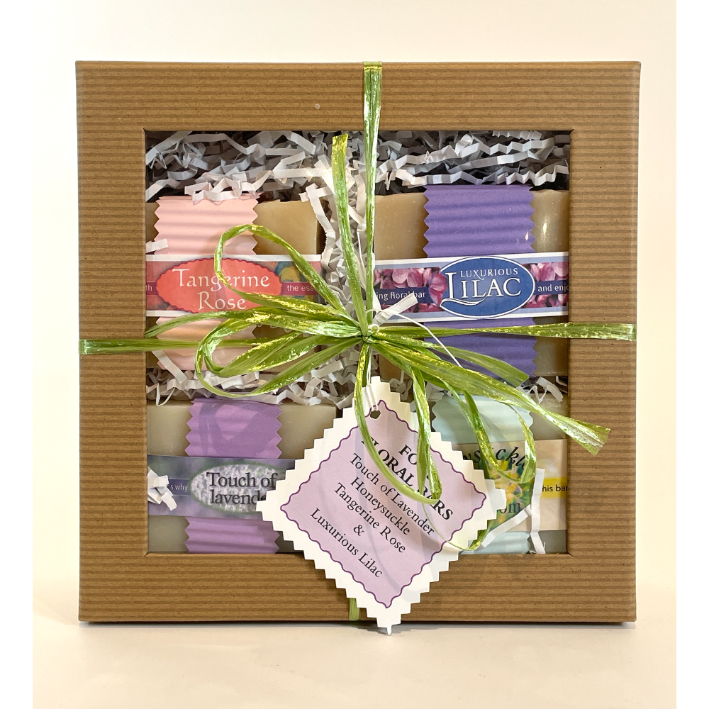 Gift Box of Floral Soaps