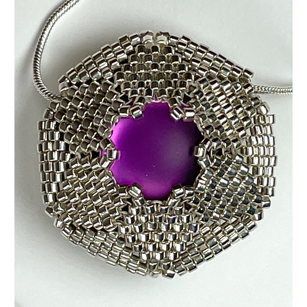 Silver Necklace with Reversible Pendant