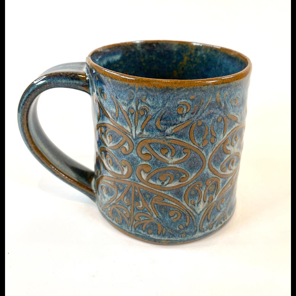 Blue Mug - Symmetrical Pattern