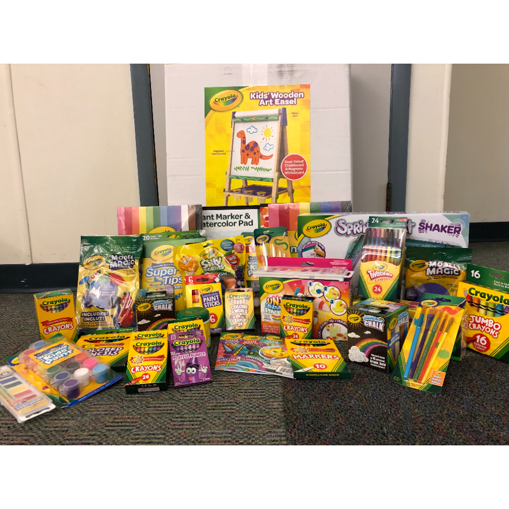 Crayola Supplies Basket from Mrs. Miler's Pre-K Class