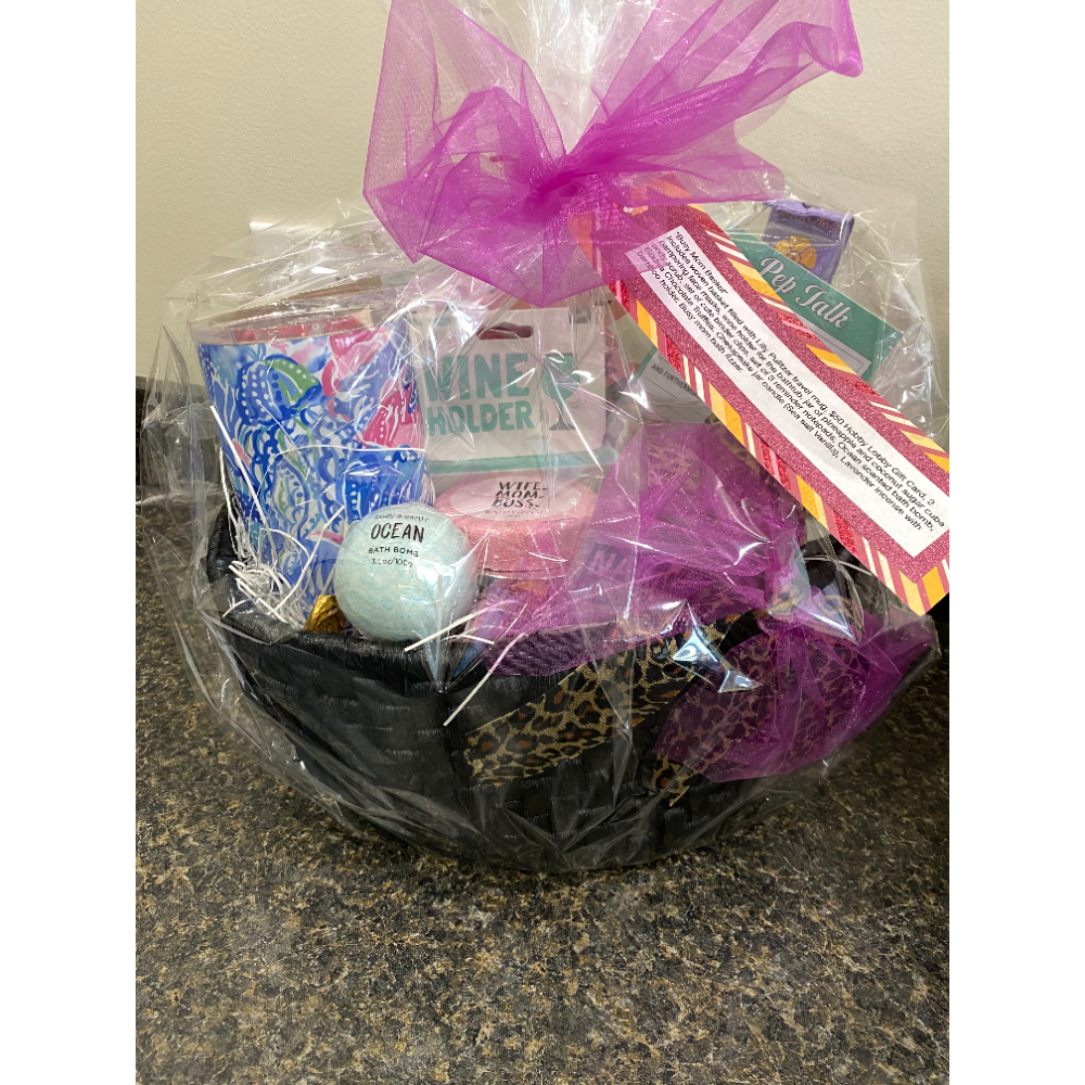 Shopping and Pampering Day Basket