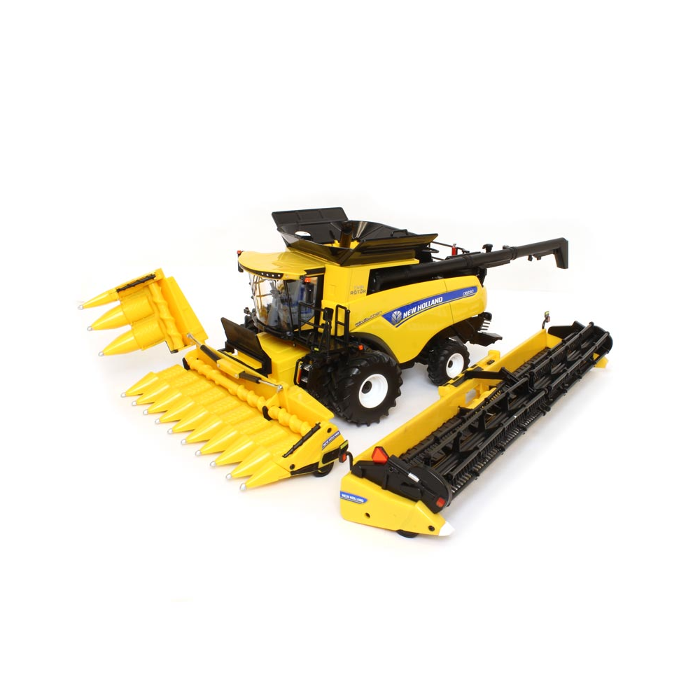 New Holland CR8.90 Combine With 2 Heads 1/32 Die-Cast Metal Replica