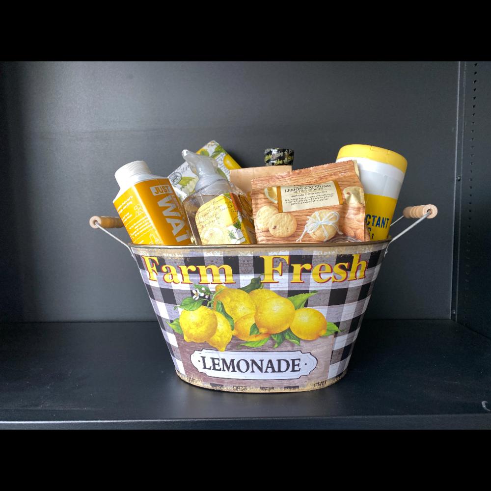 Lemon Themed Goodie Basket