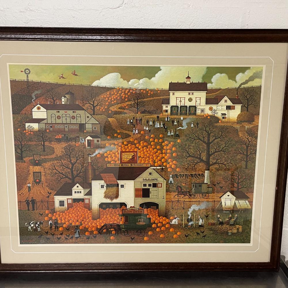 Artwork: Fall Farm Scene Print by Susie Riehl