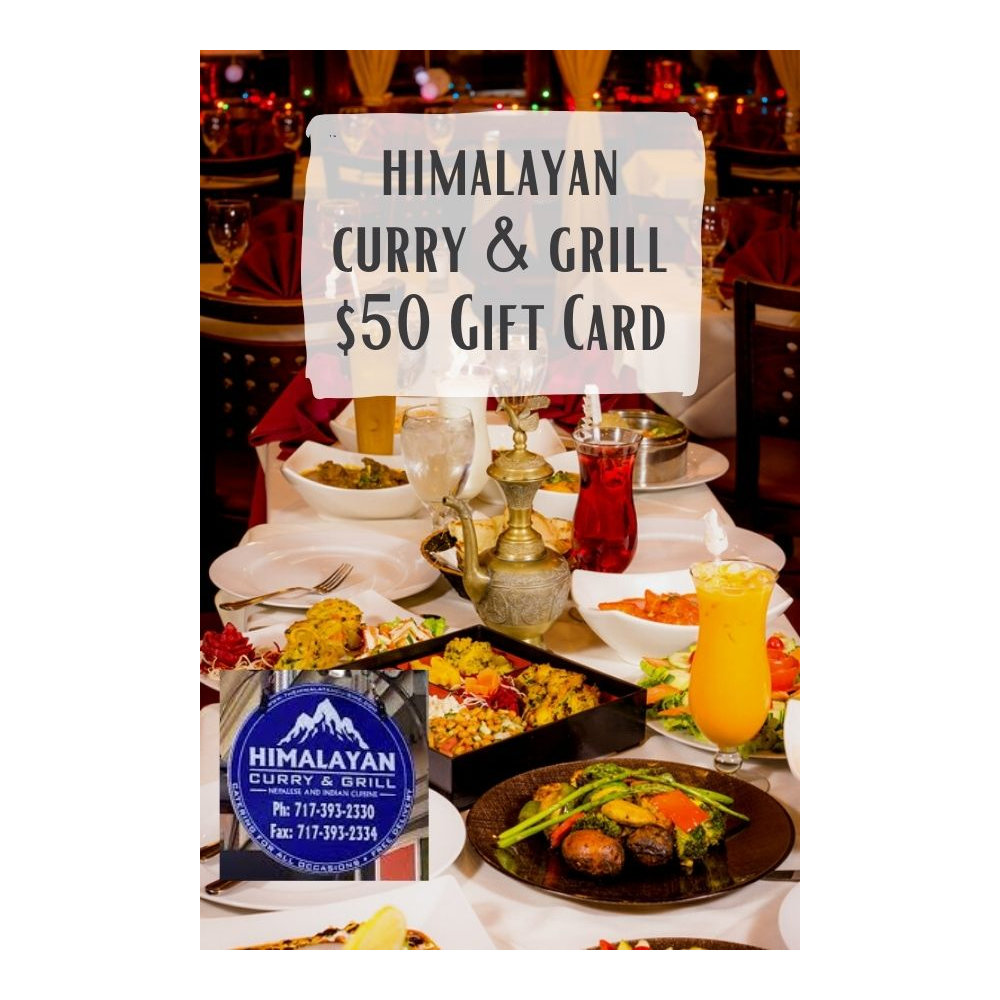 $50.00 Himalayan Curry & Grill Gift Card