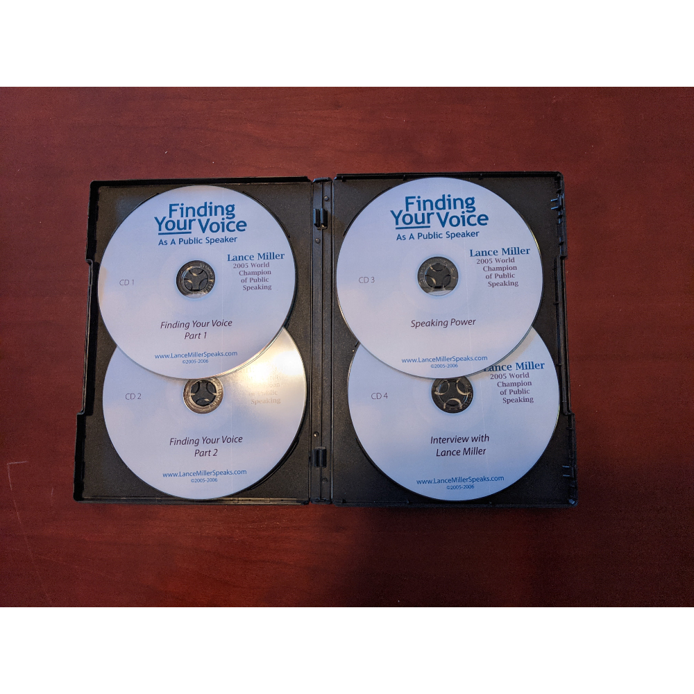 Finding Your Voice - 4-CD Audio Set -Lance Miller