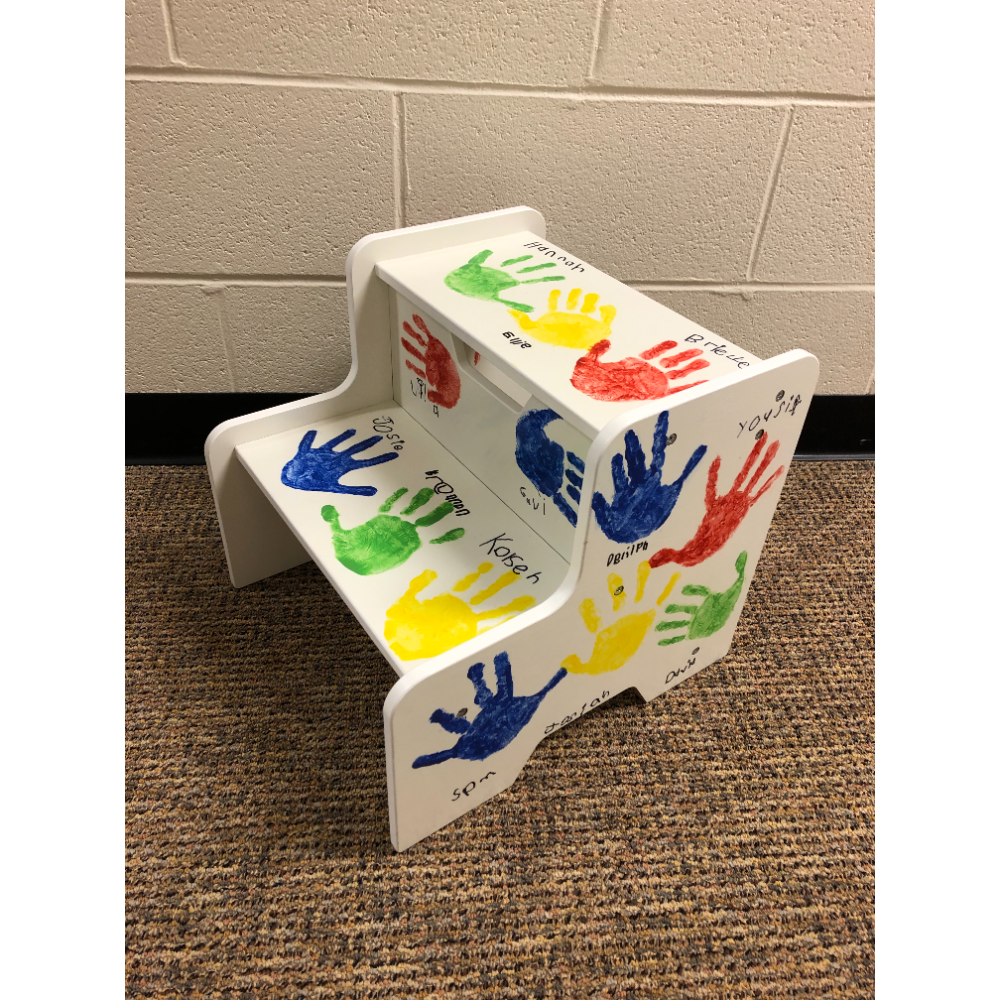 Hand Painted Step Stool (child sized) from Mrs. Roth's Class