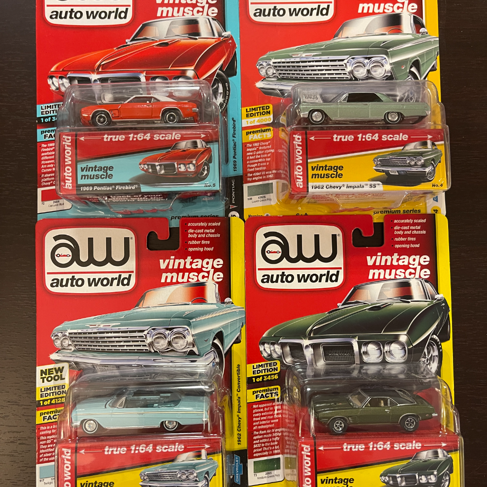 Toy Cars - Classic American Muscle Cars