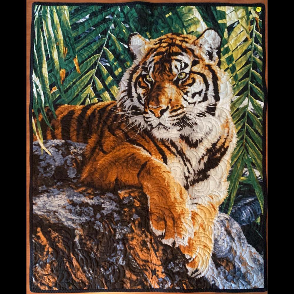 "34"" x 42"" Tiger Wall Hanging"