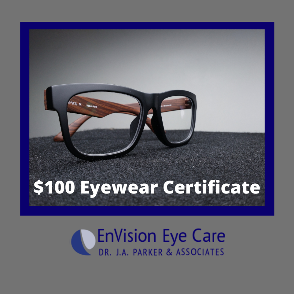 $100 Eyewear Gift Certificate