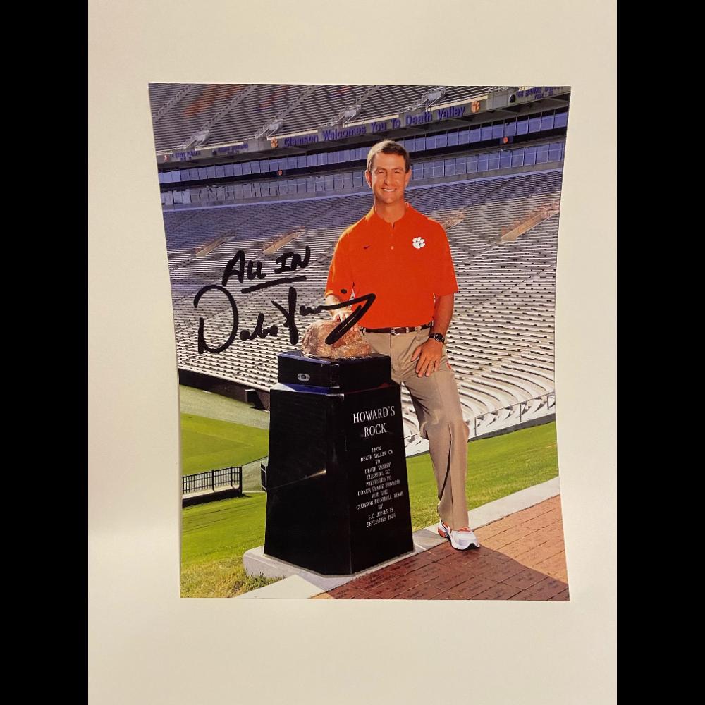 Autographed Photo of Clemson's Dabo Swinney