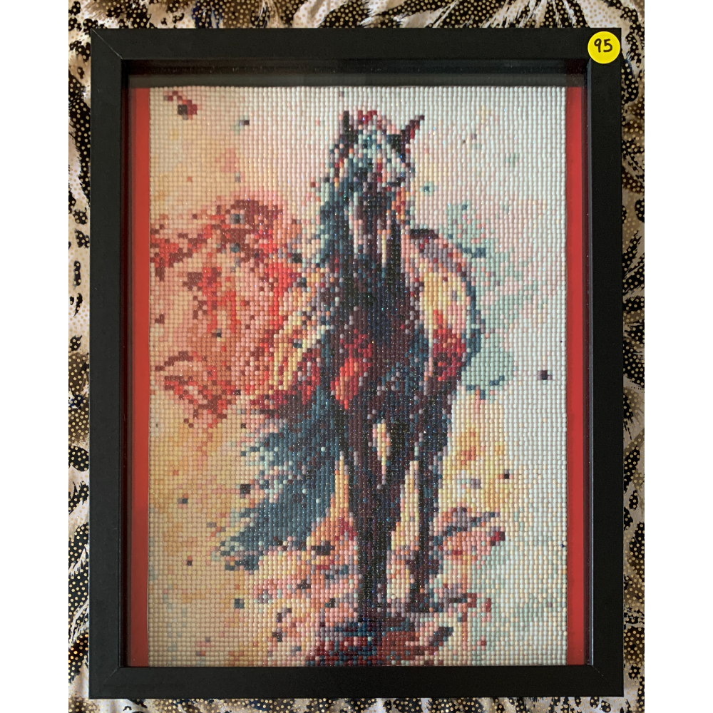 "12"" x 15"" Framed Colorful Horse Diamond Painting"