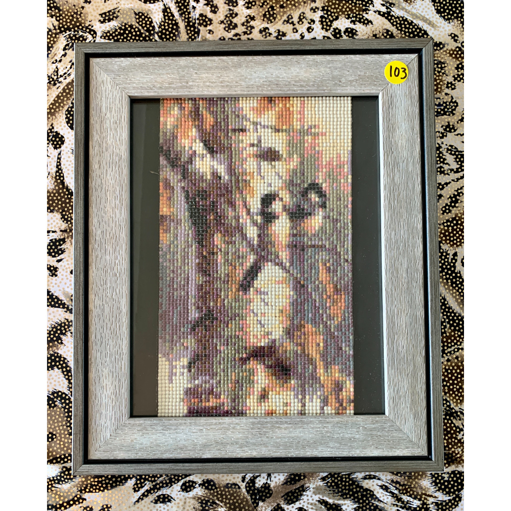 "11"" x 13"" Framed Two Birds on a Tree Branch Diamond Painting"