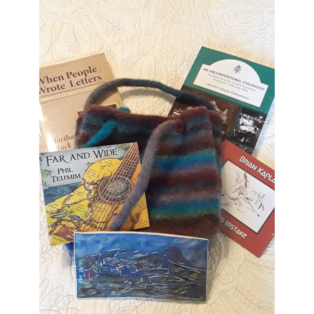 Handcrafted Purse and Books