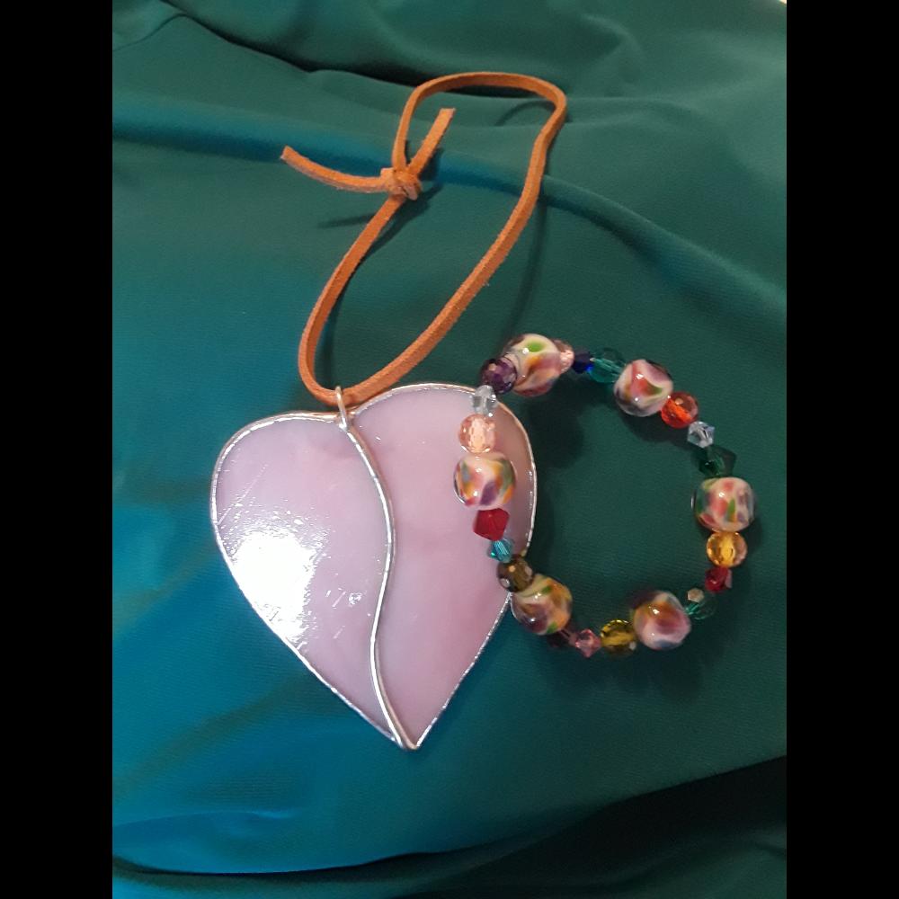 Bracelet and Heart Suncatcher