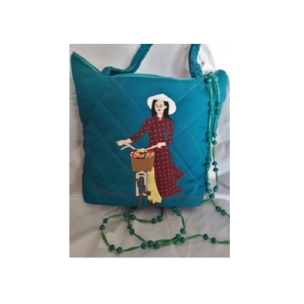 Turquoise Bag and Paperbead Necklace