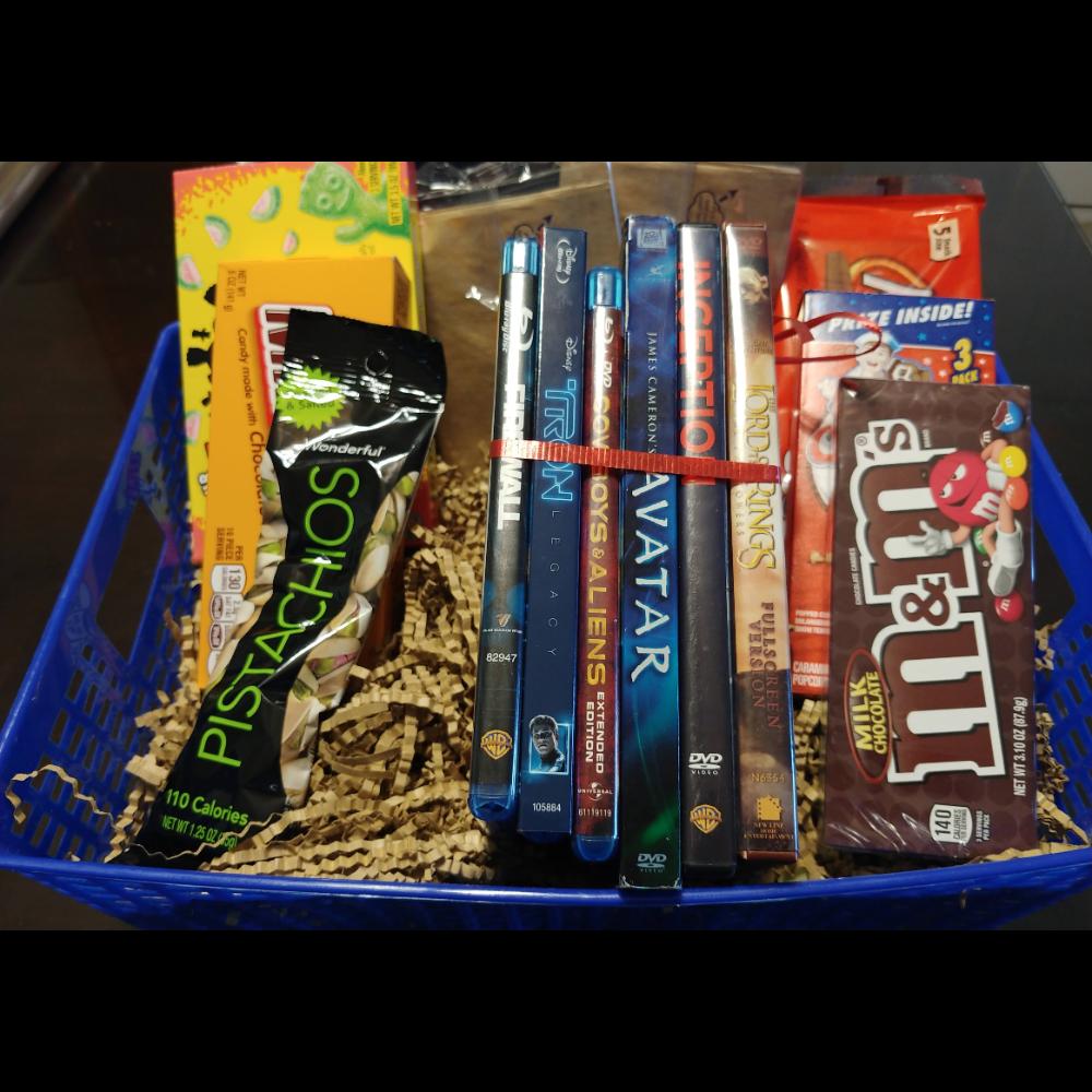Sci-fi / Fantasy Blu-ray movie night basket
