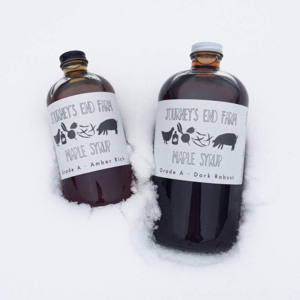 Amber Rich Grade Maple Syrup 1 Quart
