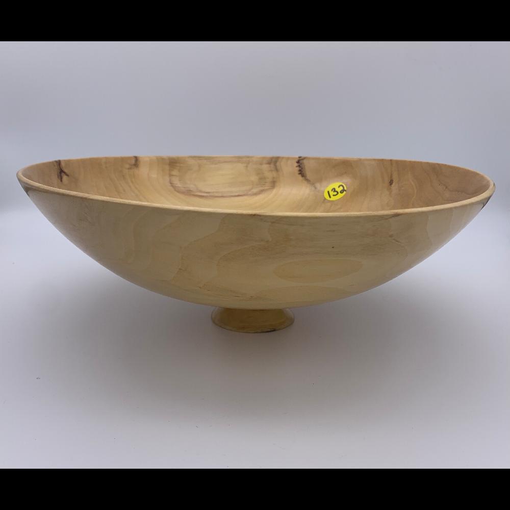 Light, Round, Medium Artisan Bowl on a pedestal byDon Bird at Twin Pines Woodturning