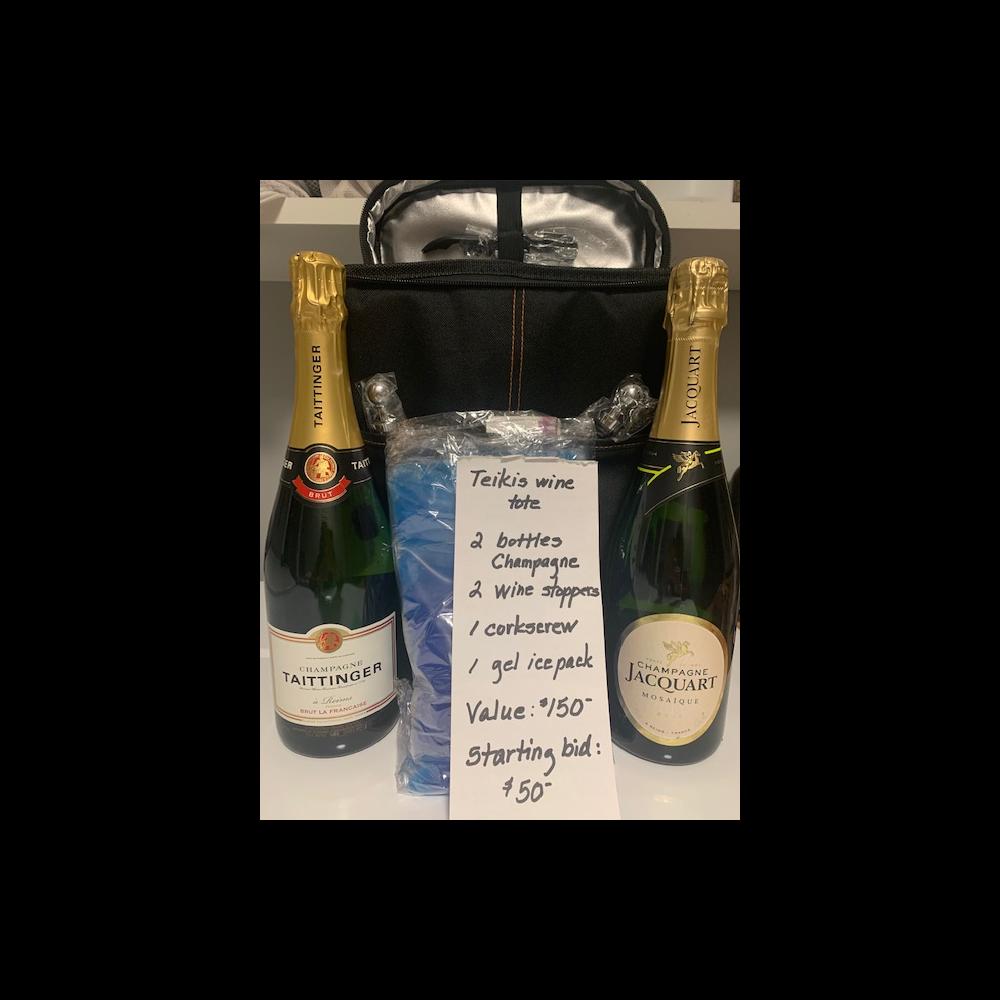 Wine/Champagne tote