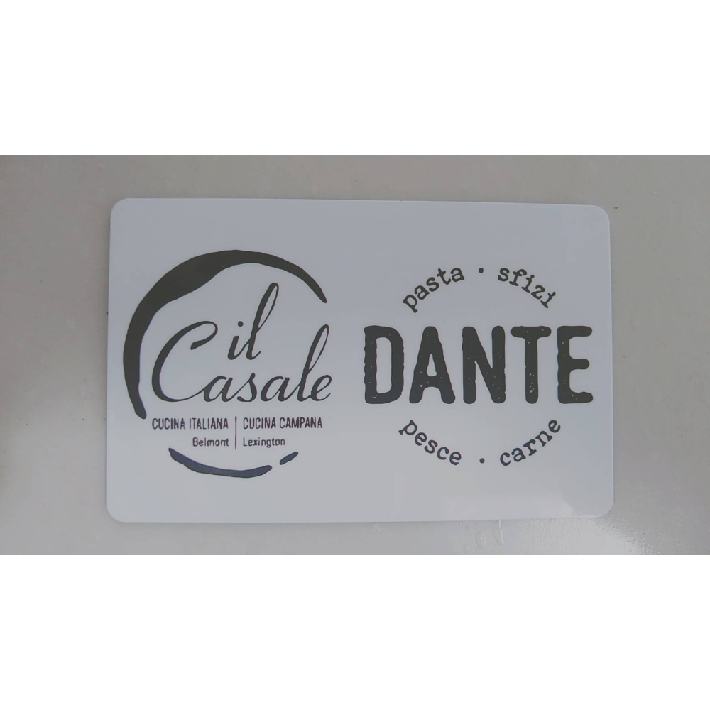 Casale gift certificates $25