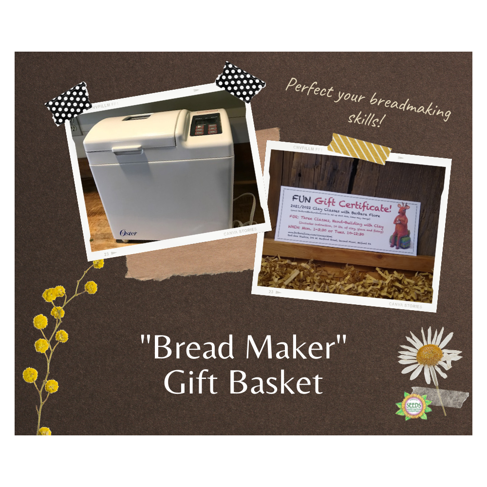 """Breadmaker"" Basket - Barbara Fiore's Fun with Clay (3 classes) + Gift Certificate Oster Bread Maker"