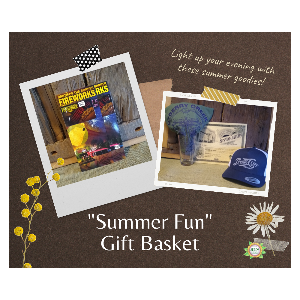 """""""Summer Fun"""" Gift Basket - Irving Cliff Swag with $25 Gift Certificate + $25 North of the Border Fireworks Gift Certificate"""