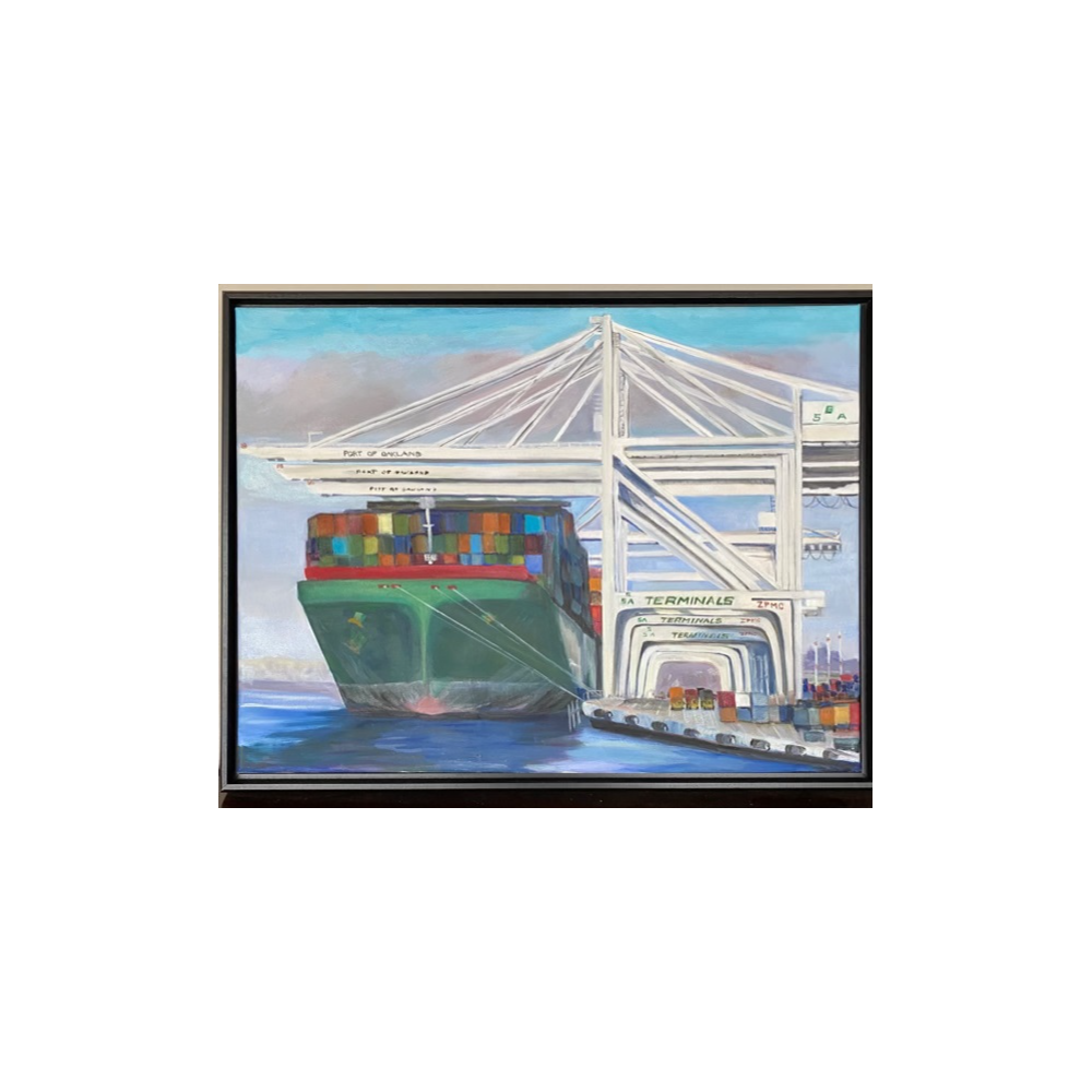 Painting - Waiting to Unload