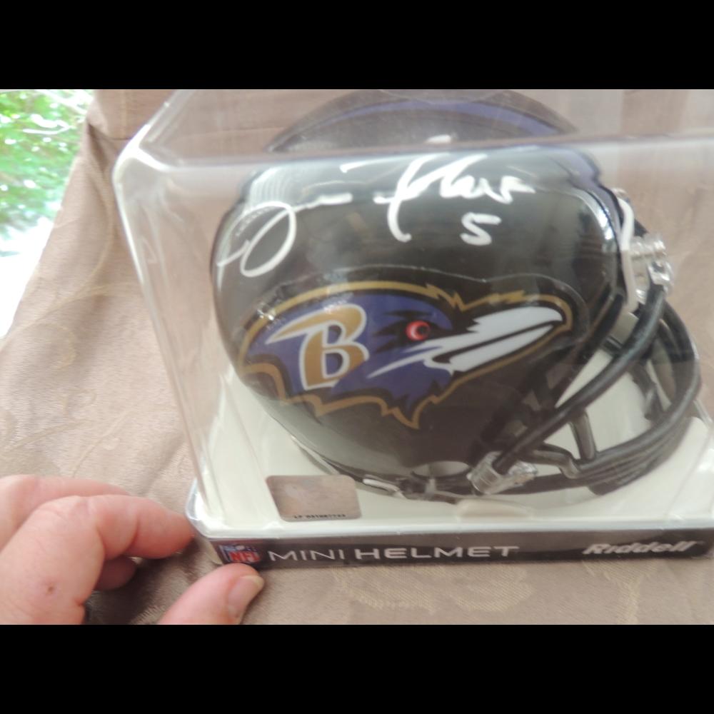 Ravens Mini Helmet signed