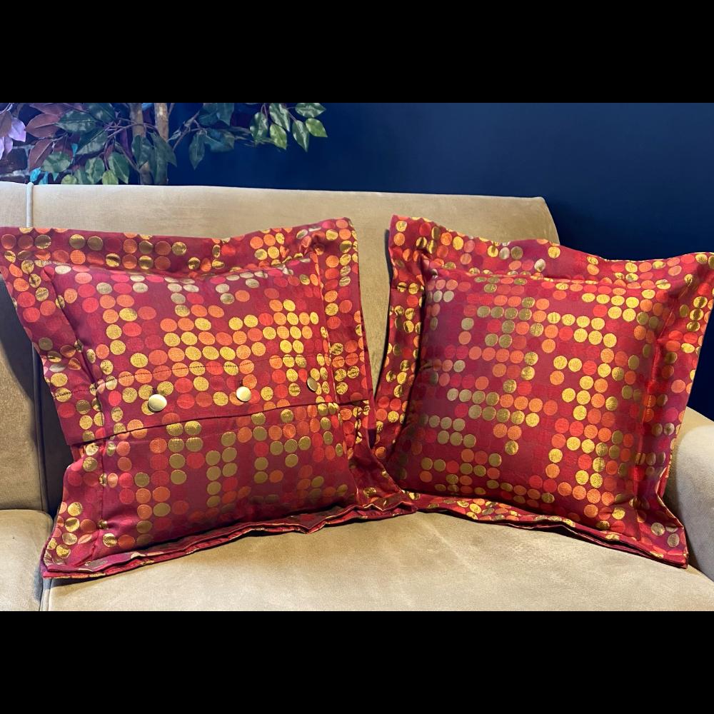 Pair of Handmade Throw Pillows