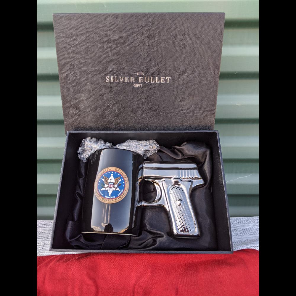 Silver Bullet Pistol Mug