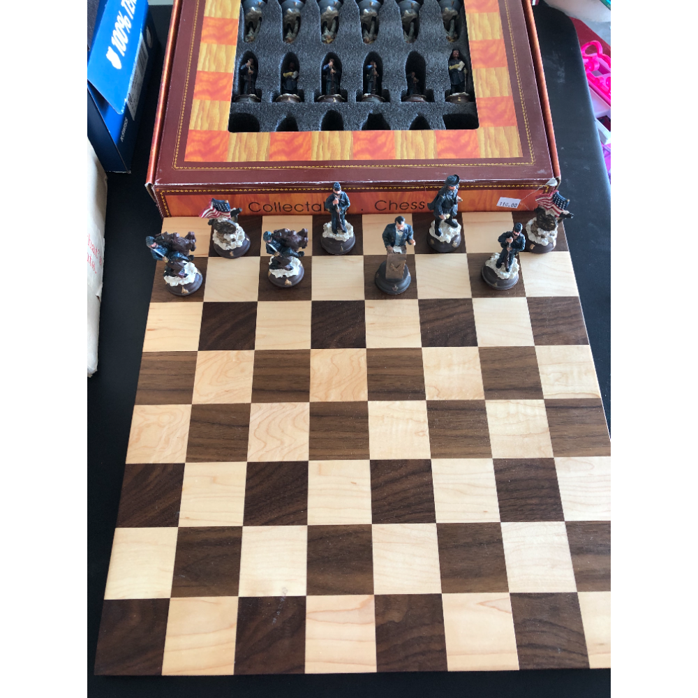 Wooden Chess Board and Set