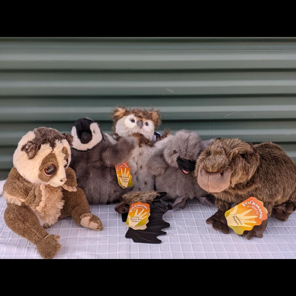 Six Folkmanis Puppets