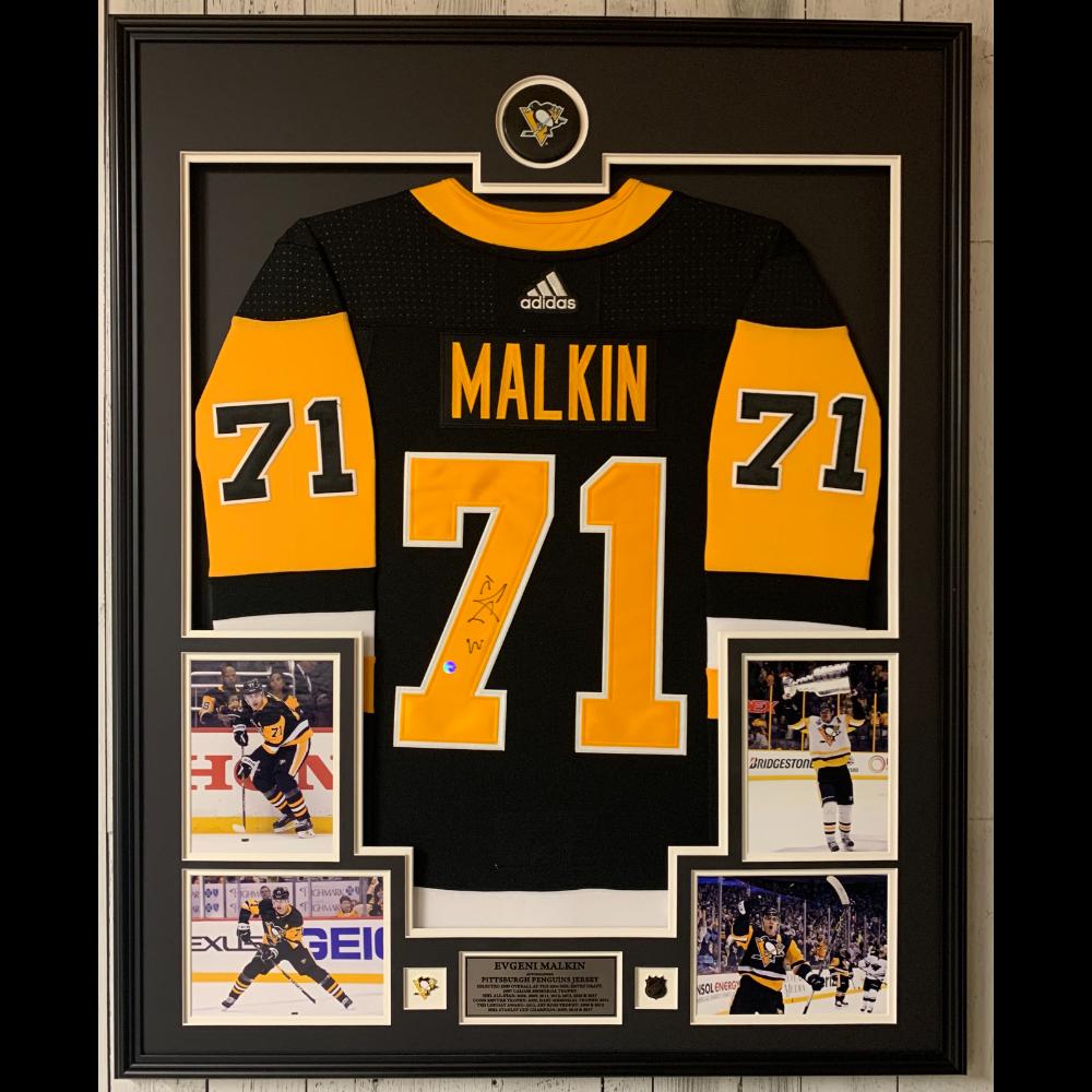 Evgeni Malkin Framed Autographed Jersey