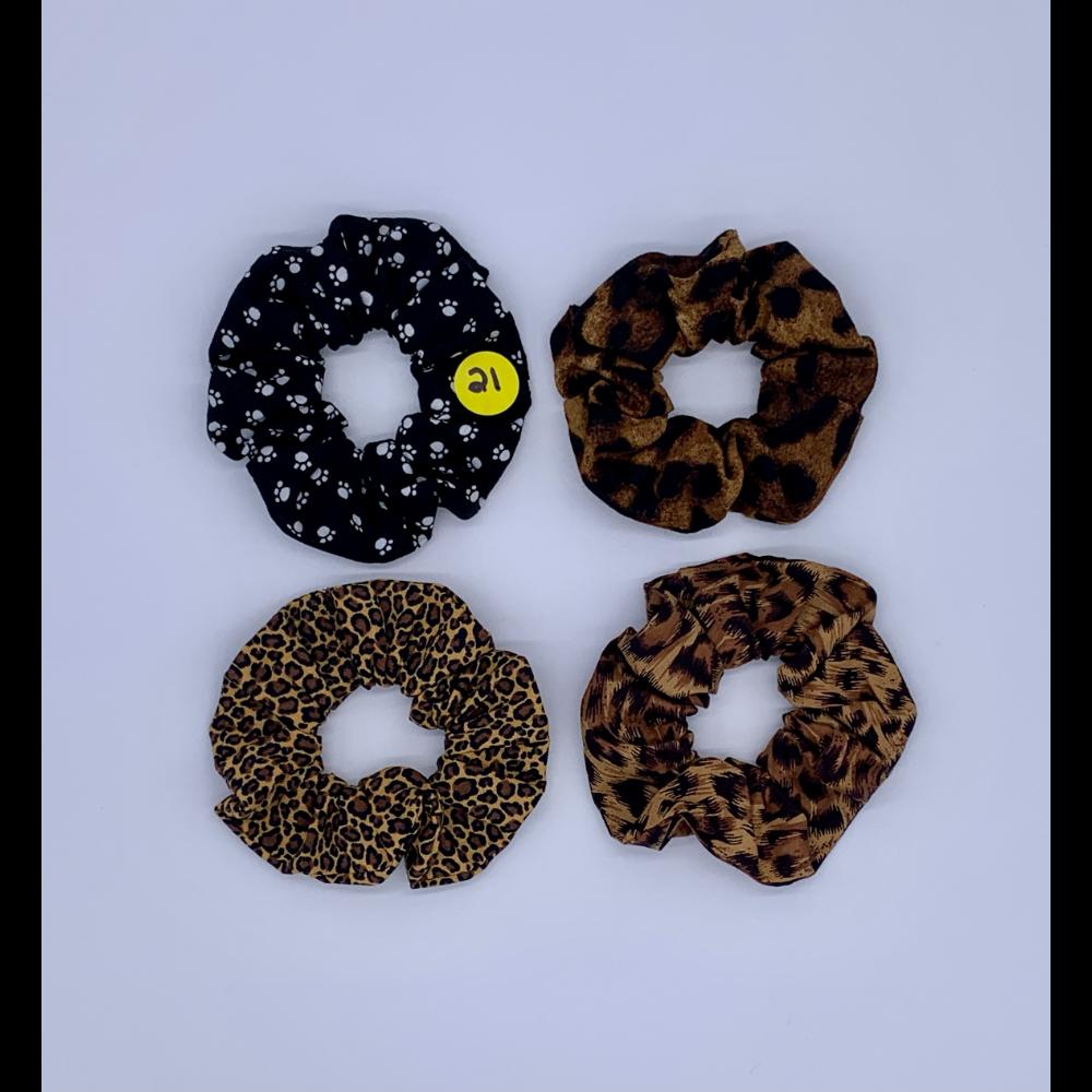Variety Pack- 4 Handmade Hair Scrunchies