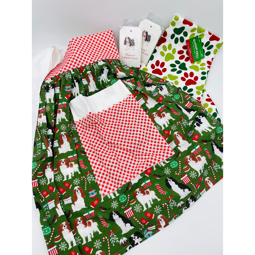 Cavalier Christmas Apron Package