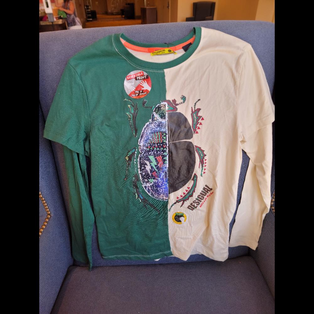 Beetle flip-sequin chalkboard t-shirt (size 13/14 )