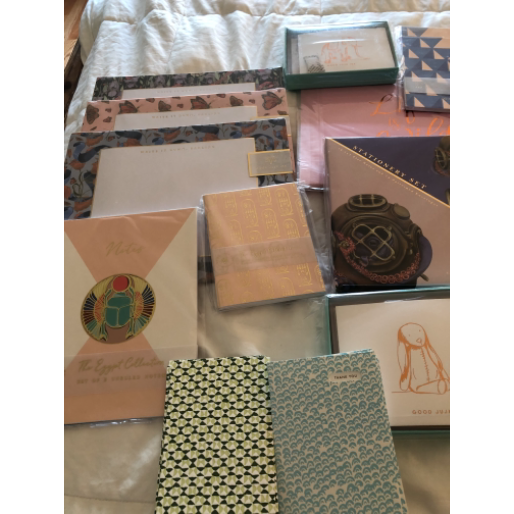 Stationary, Planner pads, notebooks and more.