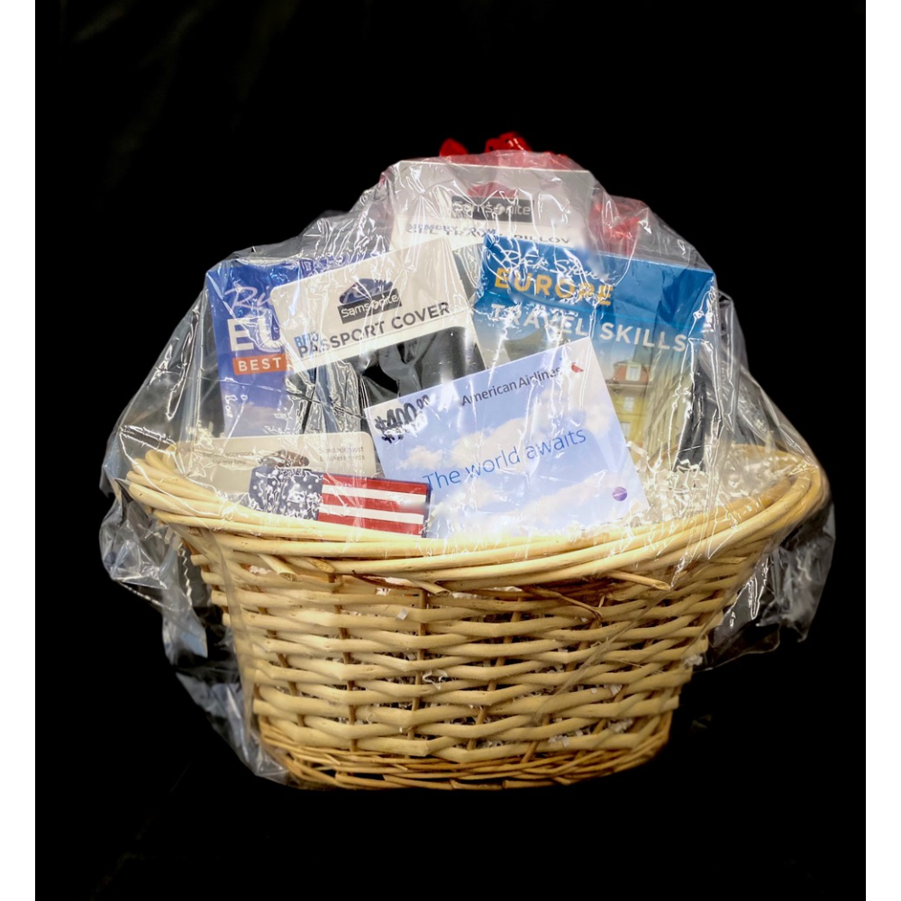 Travel Gift Basket and Noise Canceling Headphones