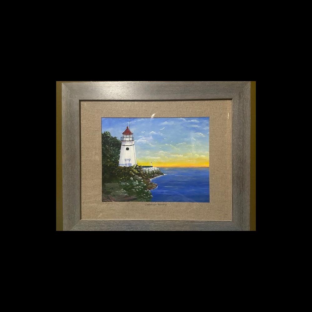 "Original Painting ""Cheboygan Morning"" by Tim Cook"