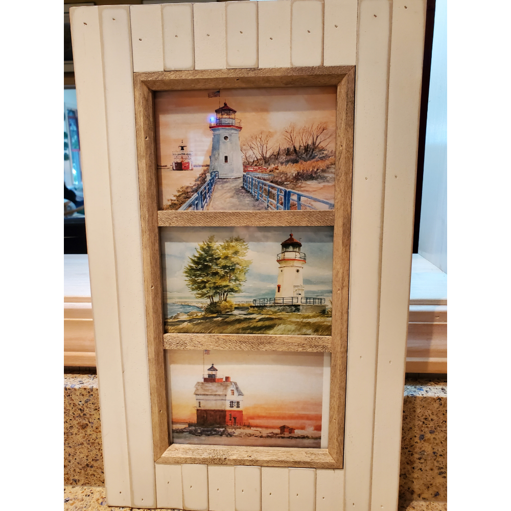 Framed color print of 3 Northern icons