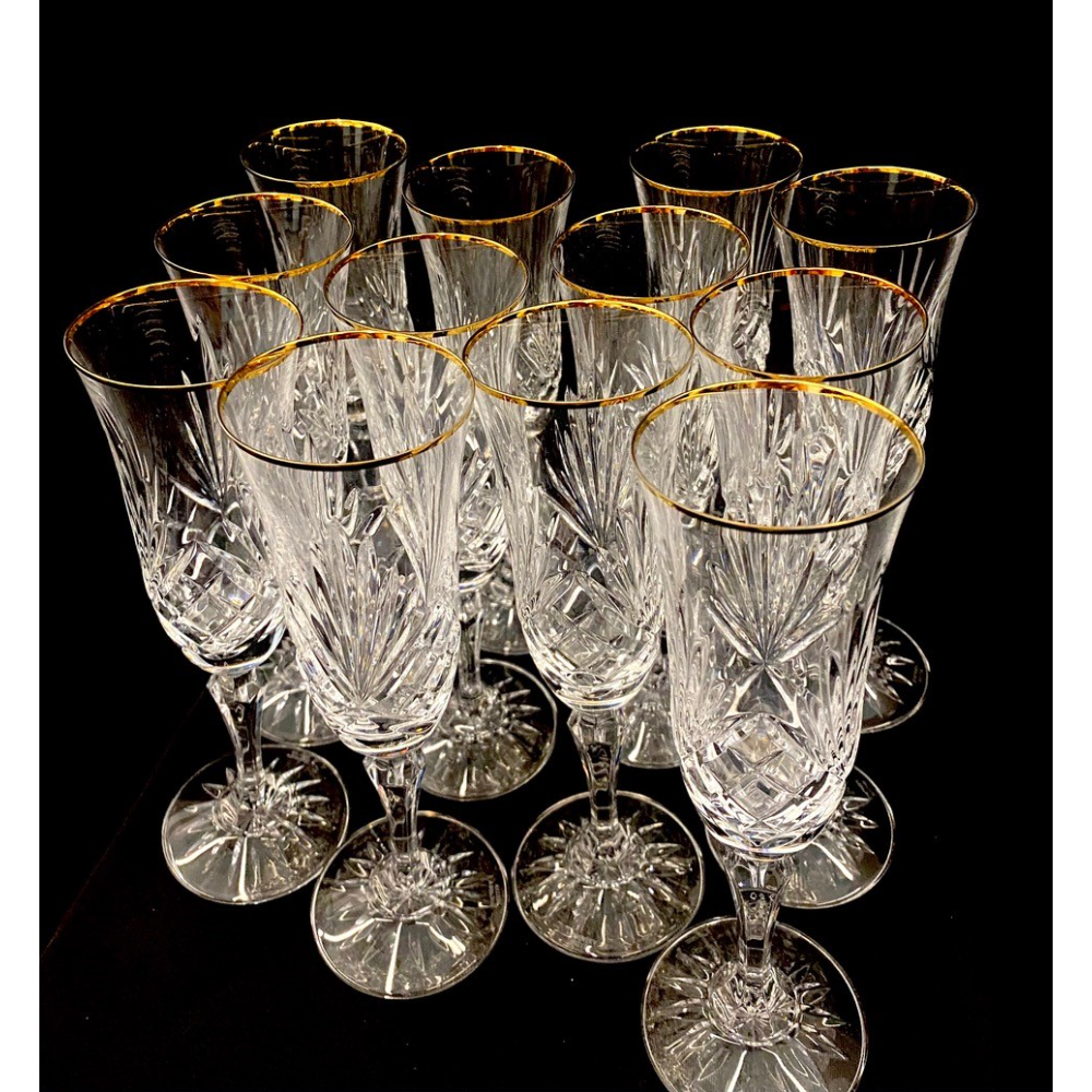 Crystal Fluted Champagnes (Set of 12)