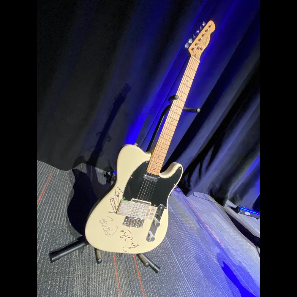 Rolling Stones Autographed Guitar