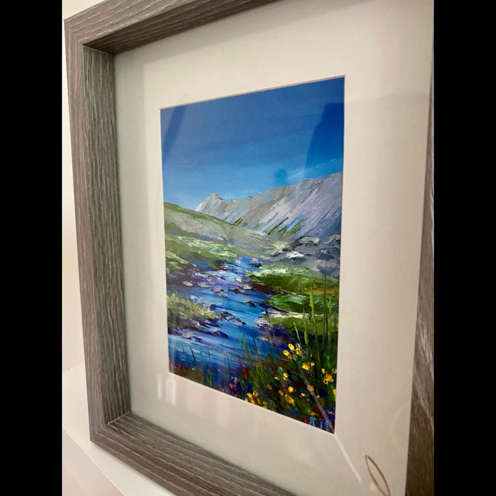 Mountain Vista Oil Painting