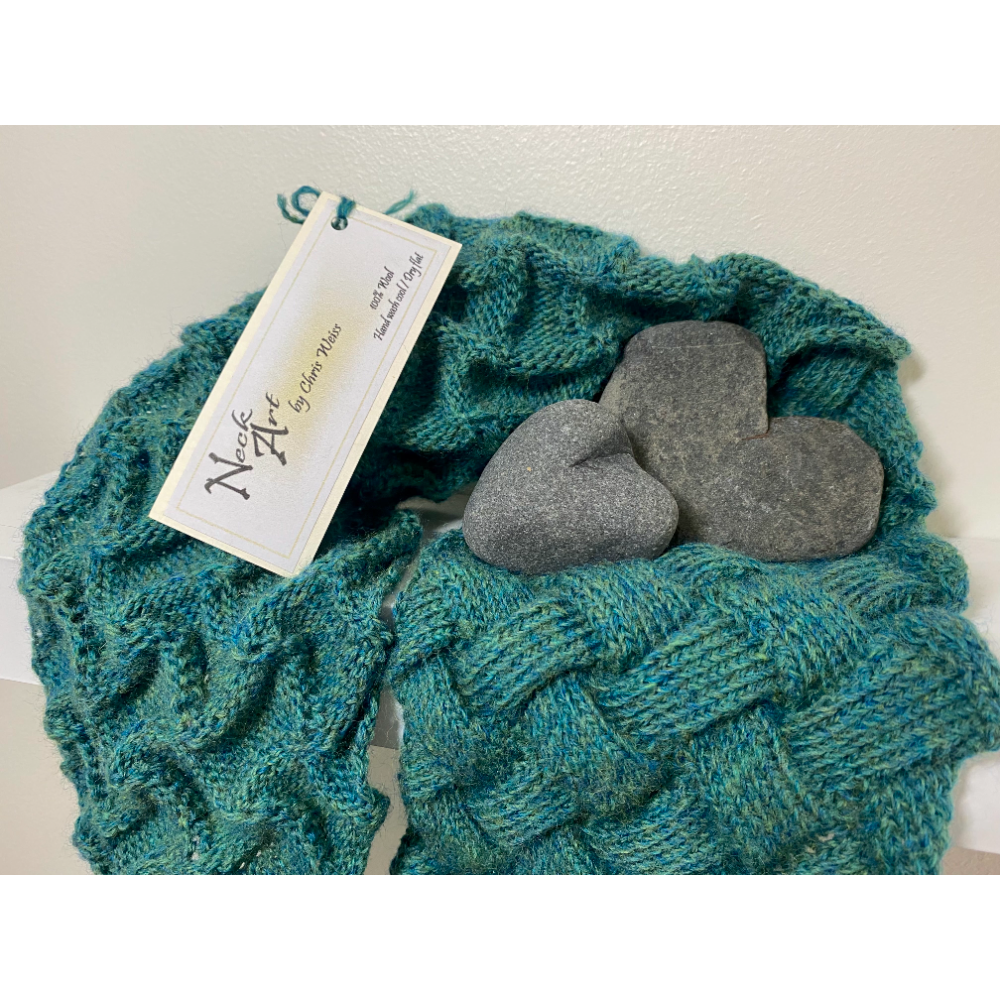 Calm and Stormy Seas Knitted Scarf