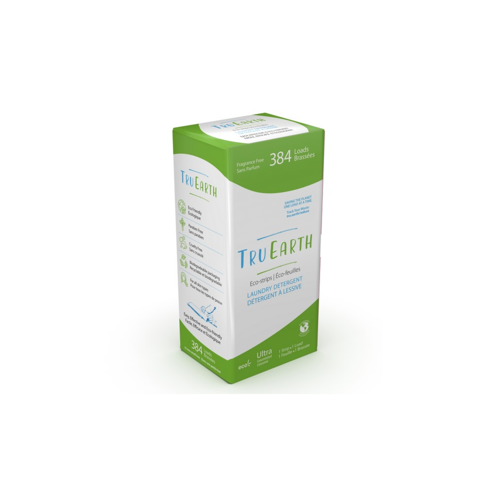 A Year Supply! Tru Earth Eco-strips Laundry Detergent (Fragrance-free) - 384 Loads