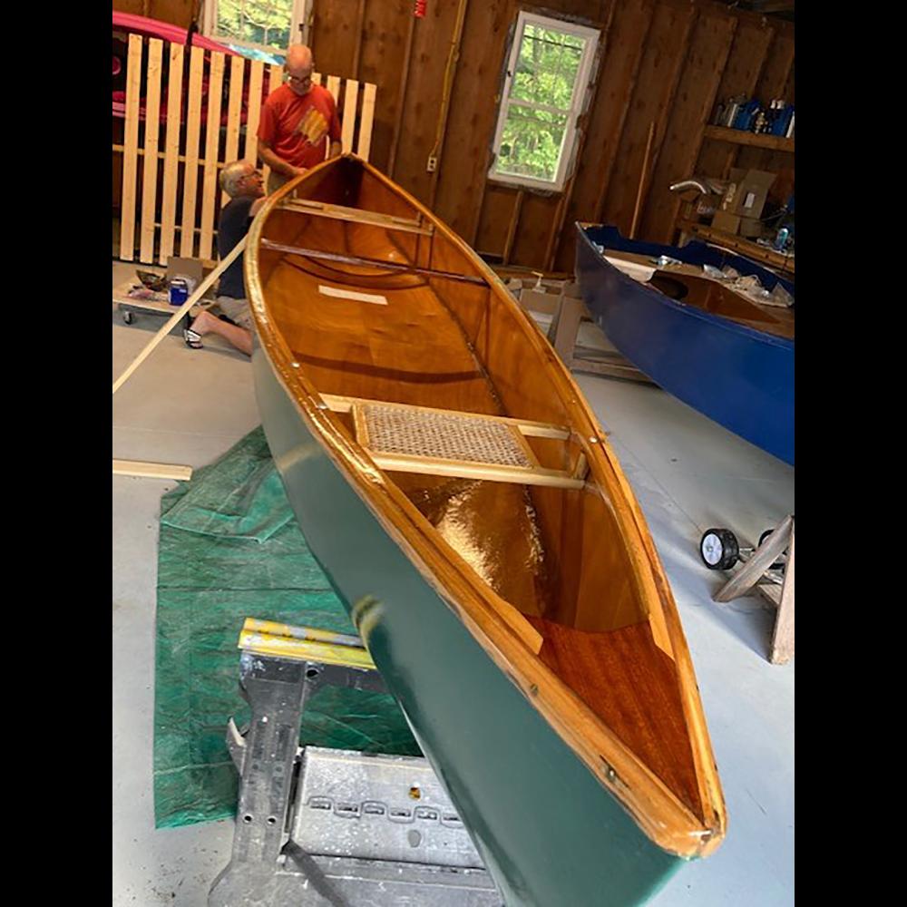 Custom Canoe - Hand Restored Mahogany